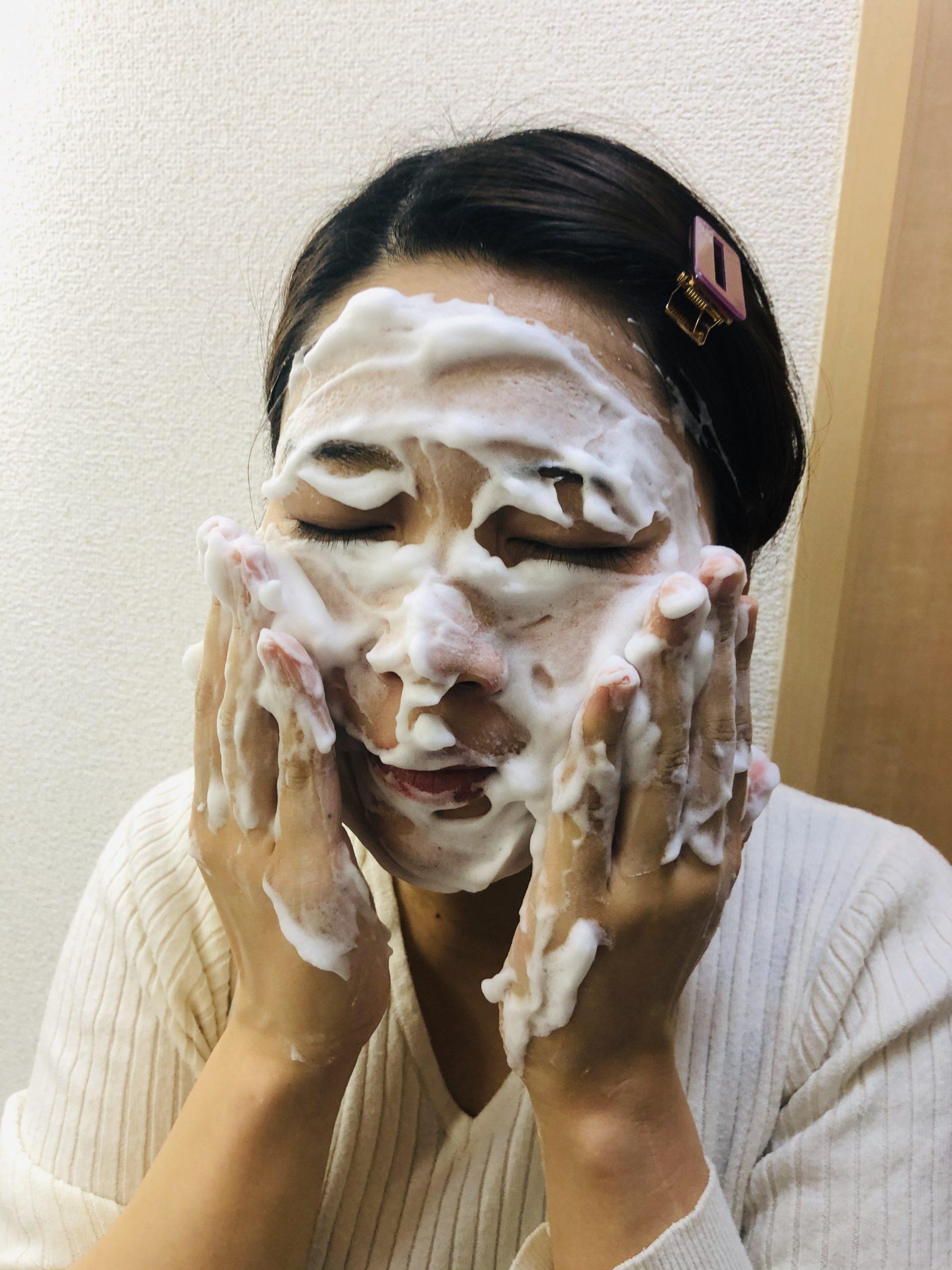 クレイ粘土の洗顔